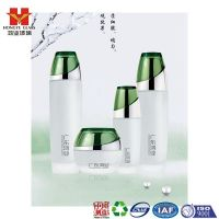 Fashion Packaging green color empty cosmetic sets spray glass bottle with pump HY1574