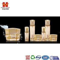 Luxury Packaging transparent golden color empty cosmetic sets spray glass bottle with pump HY1558