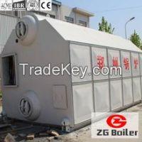 Low pressure biomass hot water boiler
