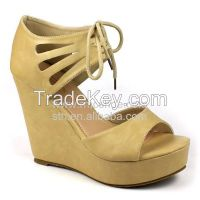 RMC Tied Strappy Platform Shoes