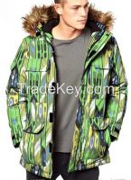 Man Print Down Ski Jacket