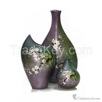 Shiny decorrative ceramic lacquer vase, 100% made in Vietnam,