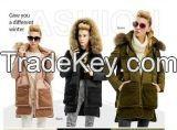 woolen down jacket female models