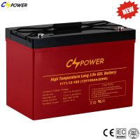 Supplier UPS 12V100ah Rechargeable Deep Cycle Gel Battery for Solar