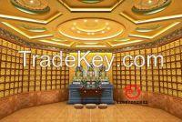 Metal thousands of buddha wall