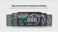 New 5.5 Inch A8 HUD Multi-color LED Car Head Up Display Car Universal Car HUD Display OBD II Universal
