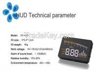 New 3 Inch X5 Car HUD Head Up Display System OBD II Speed Monitor Head up HUD Display hud speed display