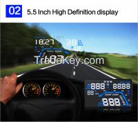 5.5 Inch Multi-function New Q7 GPS Car HUD Head Up Display System OBD2