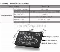 Latest 5.5 Inch E300 HUD Multi-color LED Car Head Up Display Car Universal Car HUD Display OBD II Universal