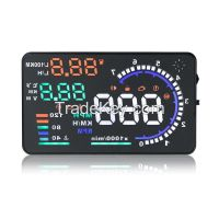 """2015 A8 5.5"""" LED LCD Car HUD Head Up Display OBD2 Interface Fuel Overspeed Speed Warning hud"""