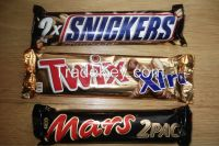 Snickers:51g,Mars 52g