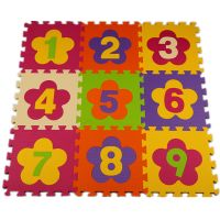 baby die cut eva foam playing mat with colorful patterns