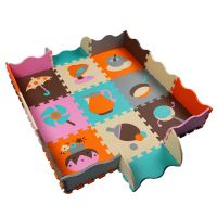 children eva floating playing mat with colorful fruit patterns