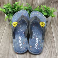 2016 fashionable demin outdoor flip flops TPR outsole