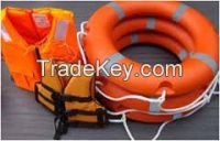 SOLAS approved life jacket and life buoy