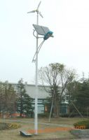 Horizontal Axis Wind and Solar Hybrid Street Light