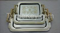 chrome plated trays with