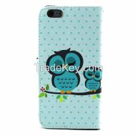 Painting Luxury PU Leather Card Slot Cover Case Wallet For Apple iphone 6 plus 5.5 inch (Color: Multicolor)