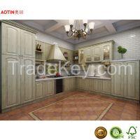 Economical Classic Style PVC Kitchen Cabinet Manufacturer China