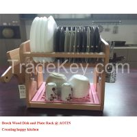 2015 New Design Wood Kitchen Cabinet Dish Rack for Sale
