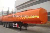 Tri- Axles 36CBM-60CBM Oil Tanker Semi Trailer For Sale