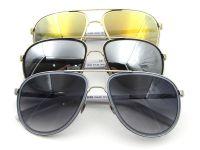 slim metal classic designer aviator sunglasses