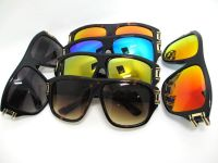 Flash lens square fashion sunglasse for men and women