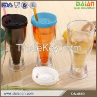 400ml double wall promotion plastic cup for beer