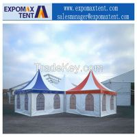 Pagoda tent spire tent aluminum frame outdoor tent from China 3 meters wide