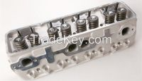 Loaded cylinder head for Chevy 350 small block engine