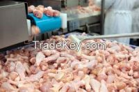 Chicken whole,  Chicken breast fillet single , Chicken breast fillet double ,  Chicken wings 3j  , Chicken wings 2j (I+II) ,  Chicken wings 2j (II+III) ,  Chicken wings 1j Chicken wing tip ,  Chicken skin. Chicken skin from leg  , Chicken skin from breast