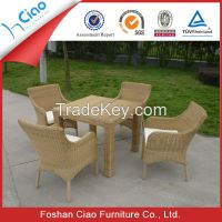 Garden used 4 seater rattan table and chairs