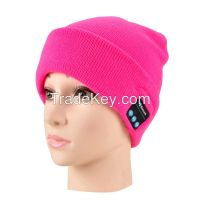 Wholesale Fabric Bluetooth Beanie Hat With Headphone Smart Bluetooth Beanie Music Knitted Hat Winter MP3 Women / Men Cap