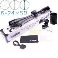 Spike Optical 6-24x50 AOIR red green dot hunting rifle scope