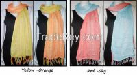 Cotton scarf two tone color 100% cotton