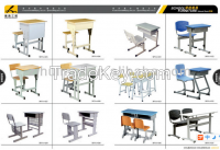 School desk and chair/Single desk and chair, school furniture