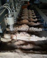 8 heads CNC flat-rotary wood engraver