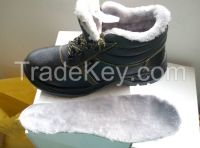 Winter warm anti-skid safety shoes wool for wholesale