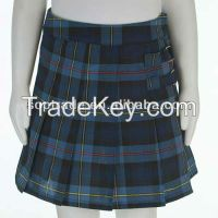 China wholesale knee length cotton school uniform plaid skirts