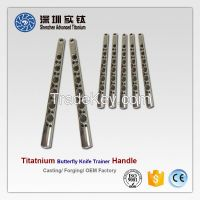 High quality titanium butterfly knife trainer handle casting factory