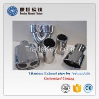 Titanium auto car exhaust pipes supplier in China