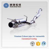 Titanium auto car exhaust