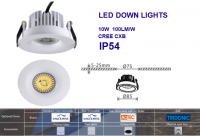 Recessed downlights led cutout 90mm IP54 for commercial lighting