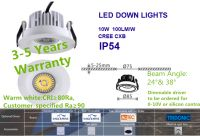 IP54 LED Downlights Dimmable CRI80 for supermarket