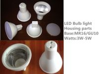 Factory Price 3W aluminum with plastic coated GU10 led bulb body materials
