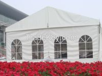 Temporary outdoor party tent