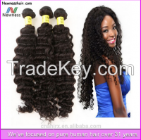 factory price virgin big discount curly hair weave brazilian hair accept paypal