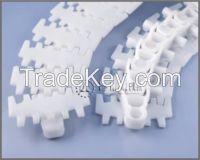 conveyor chain with turning radius