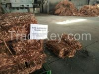 Facotry sale High purity copper wire scrap 99.99%,