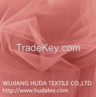2015 100% Polyester messy tulle mesh fabric for fashion dresses